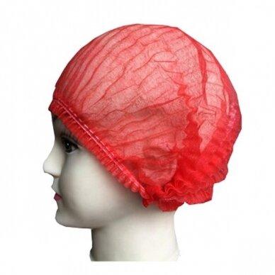 Vienkartinės gofruotos kepuraitės Charlotte, raudonos sp. 100 vnt. 2