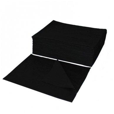 Vienkartiniai popieriniai rankšluosčiai, celiulioze 70x50 cm, 50 vnt., sp. juoda