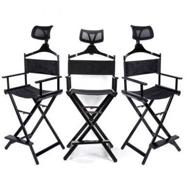 Vizažo kėdė KC-CH03 su papildoma galvos atrama,  juodos sp.