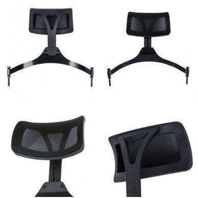 Vizažo kėdė KC-CH03 su papildoma galvos atrama,  juodos sp. 2
