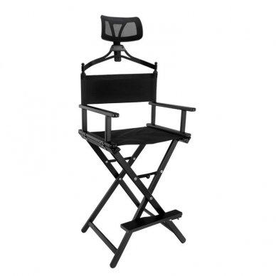 Vizažo, makiažo krėslas LOOK su galvos atrama, juodos sp.