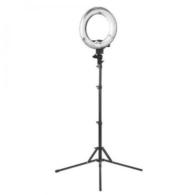 "Vizažo lempa RING LIGHT 12"" 35W, juodos sp."