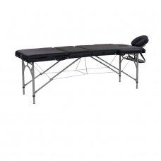 Weelko Vastis sulankstomas 3 dalių masažo stalas, aliuminio rėmas, juodos sp.