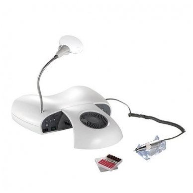 Weelko 3 in 1 SET LUXDRY: freza, UV lempa ir dulkių ištraukėjas viename