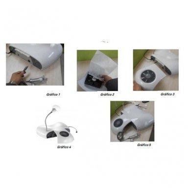 Weelko 3 in 1 SET LUXDRY: freza, UV lempa ir dulkių ištraukėjas viename 3
