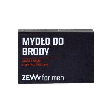 ZEW FOR MEN Simple Lumberjack barzdos priežiūros rinkinys (muilas+muilinė, šepetys, aliejus) 3