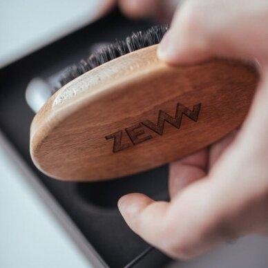 ZEW FOR MEN Simple Lumberjack barzdos priežiūros rinkinys (muilas+muilinė, šepetys, aliejus) 4