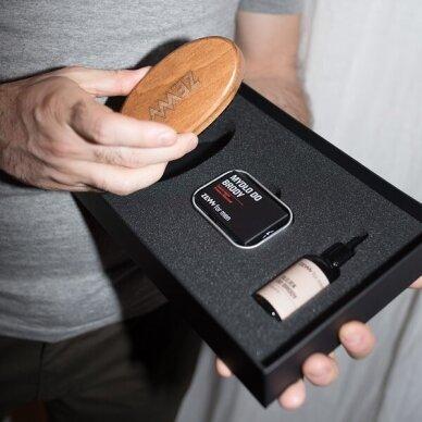 ZEW FOR MEN Simple Lumberjack barzdos priežiūros rinkinys (muilas+muilinė, šepetys, aliejus) 7
