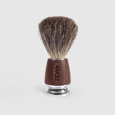 ZEW FOR MEN Smooth beard skutimosi rinkinys vyrams (balzamas, muilas, šepetėlis) 4