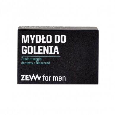 ZEW FOR MEN Smooth beard skutimosi rinkinys vyrams (balzamas, muilas, šepetėlis) 2