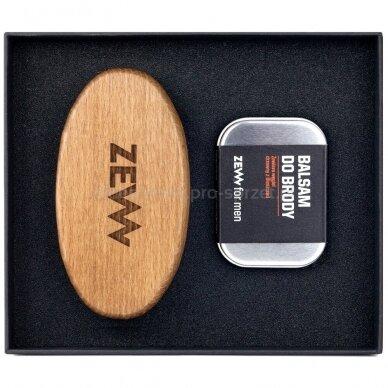 ZEW FOR MEN Stylish Beard barzdos priežiūros rinkinys (balzamas, šepetėlis) 2