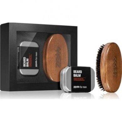ZEW FOR MEN Stylish Beard barzdos priežiūros rinkinys (balzamas, šepetėlis)